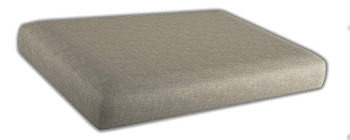 Asiento Cojinpara Sofa de palets / europalet | Desenfundable | Interior y Exterior | Color Crema | Espuma de Alta Densidad.