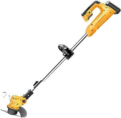 YZJL Cortacésped inalámbrico para el hogar, pequeño, Recargable, cortadora de césped, Cortador de Cepillo, artefacto de deshierbe, cortadora de césped eléctrica(Size:21V)