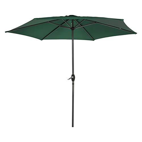 Aktive - Parasol hexagonal Garden diámetro 2,5 m - Mástil de aluminio 34 mm - Color verde (ColorBaby 53868)