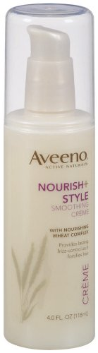 Amazon Com Aveeno Nourish Style Smoothing Crème 4 Fl Ounces Skin Care Products Beauty