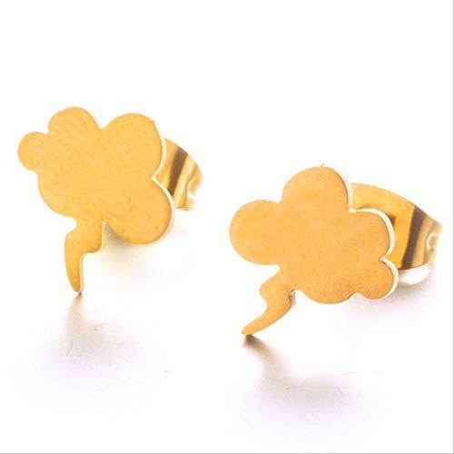 Boucles d'oreilles pour femmes Trendy Minimalist Silver et Golden Multiple Shapes Giftstud Earrings For Women And Girl Party E021728D