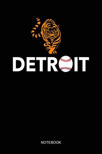 Distressed Tiger Mascot Dress for Baseball Detroit Fans Notebook: Notebook Planner, Daily Planner Journal, To Do List Notebook, Daily Organizer