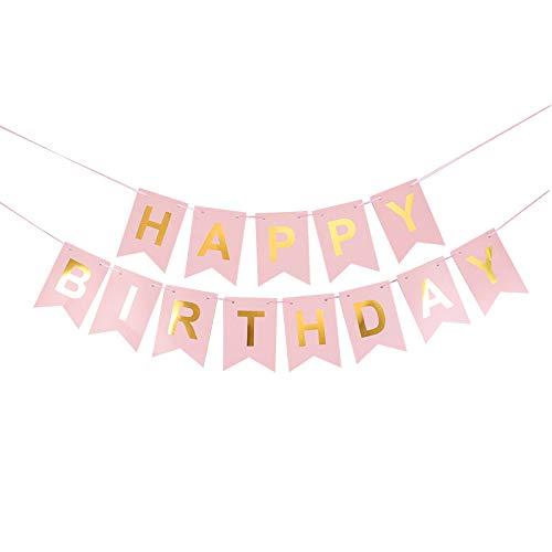 thematys Guirnalda de Cumpleaños Happy Birthday en 8 diseños y Colores Diferentes (Style 4)