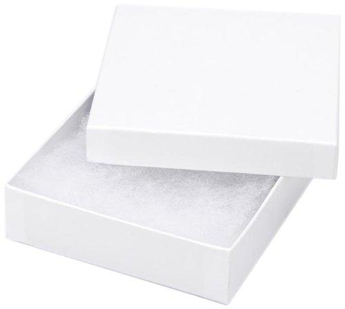 Jewelry Boxes - White - 3.5 x 3....