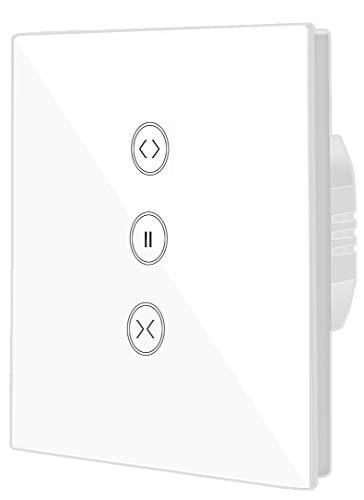 Jinvoo Smart WIFI Touch-Schalter drahtlose Fernbedienung Fenster Vorhang Schalter Controller Rollladen-Schalter, kompatibel mit iOS/Android, arbeitet mit Alexa Echo und Google Assistant