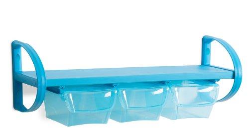 DEA Home ART744 Amadeus 62 Promo Pack One Box S Étagère Murale Décorative Polypropylène Bleu 60 x 21,5 x 21,5 cm