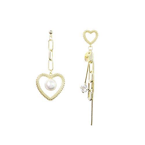 Pendientes largos de perlas con personalidad de aguja de plata 925, pendientes geométricos de diseño de moda femenina, pendientes