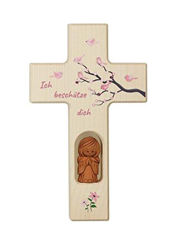 Unbekannt Neumeyer Kinderkreuz Holzkreuz, Wanddeko, Holz, Natur, 20 x 12 x 2 cm