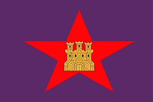 Gran Bandera de Castilla Comunera - Pendón Estrellado de Castilla 150 x 90 cm Satén Durabol