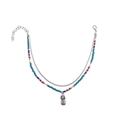 N-brand PULABO Böhmische handgemachte Blaue Perlen Fußkettchen Ananas Fußkette Fußkettchen hohe Qualität Beliebt