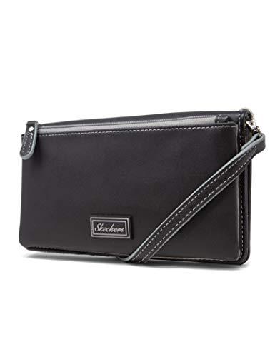 Skechers Women's RFID Crossbody Bag, Black Edge, One Size
