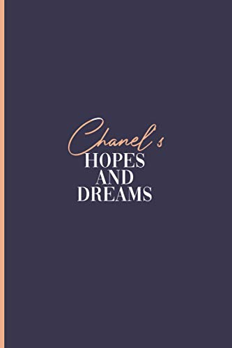 Chanel's Hopes and Dreams: Personalised Journal for Women and Girls, A5 Diary Lined for Girls, Cute Flowers Light Pink cover with Personalized name ... thoughts, Birthday Christmas Valentine gift