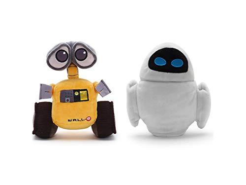 Disney Wall-E e Eve Mini Peluche Imbottito Set 18cm