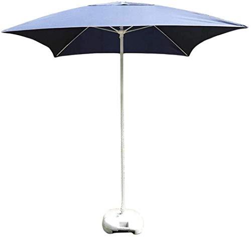 Ombrellone da Giardino Azzurro, ombrellone da Tavolo Quadrato da Esterno Regolabile, Molto Adatto per Spiaggia/Lavoro/Nuoto, Protezione Solare, Resistenza alla Pioggia e allo Sporco