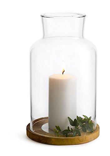 Sagaform - Set regalo con portacandela in vetro trasparente, 13 x 13 x 21,5 cm