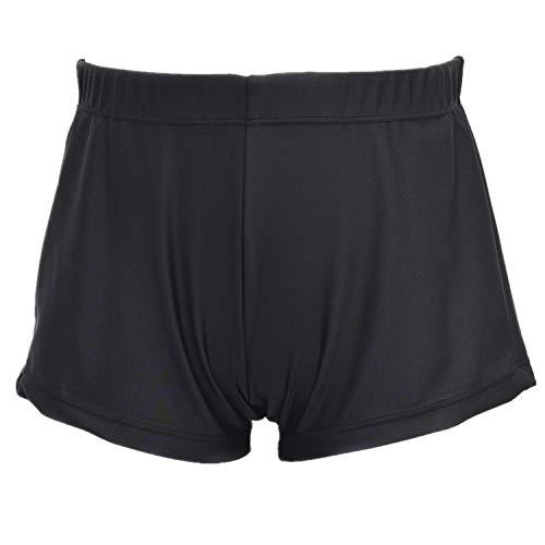 ZIZI Kid Big Boy's Dance Tumbling Training Athletic Gymnastics Clothes Black Short 6X