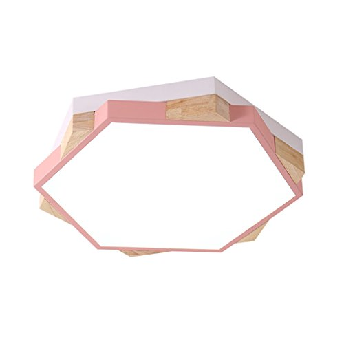 Nordique Moderne Minimaliste Style Plafonnier, Macaron Fer Forgé Acrylique Lumineux, Salon Chambre Salle À Manger Étude Lustre, LED (Color : Pink)