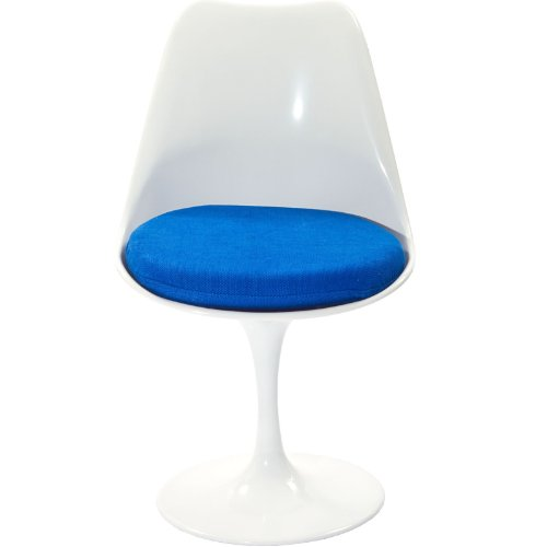 Modway Lippa Mid-Century Modern Upholstered Fabric Swivel Kitchen and Dining Room Chair in Blue