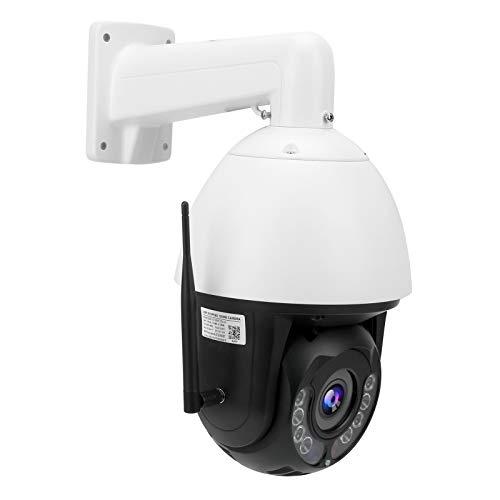 KAKAKE Cámara Wi-Fi, Cámara Pan Tilt, Cámara de visión Nocturna CCTV con Zoom de 30X, Cámara Wi-Fi 1080P a Todo Color,(European regulations)
