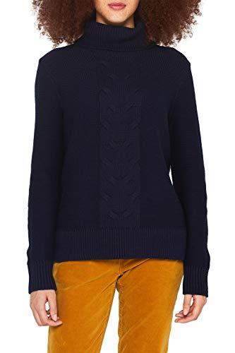 edc by ESPRIT Damen 109CC1I014 Pullover, Blau (Navy 400), Small (Herstellergröße: S)