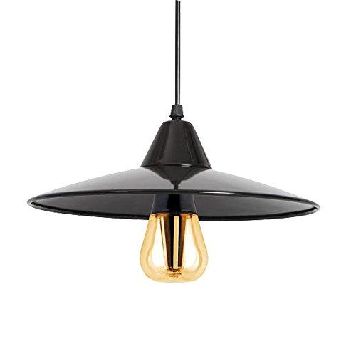 LED Pendelleuchte Hängeleuchte schwarz inkl. Retro Leuchtmittel 8W Kanlux 24251 Wohn Esszimmer Tisch Deckenlampe