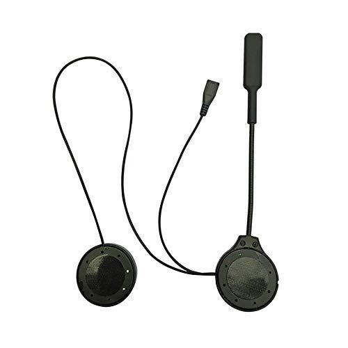 LOVSE Casco de motocicleta auricular Bluetooth 4.1 inalámbrico casco auricular