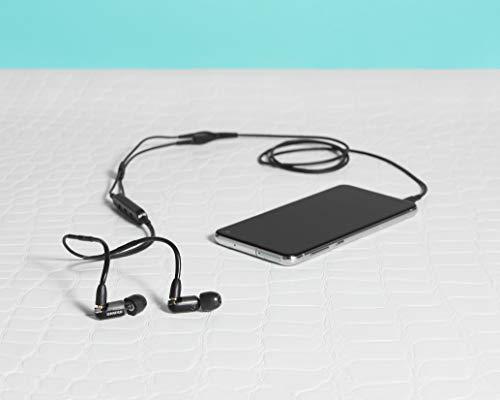 Shure AONIC 3 Auriculares con aislamiento de sonido con cable, sonido nítido, transductor único, ajuste intraural, cable desmontable, compatible con dispositivos Apple y Android - Color negro