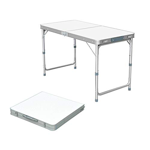 Folding Camping Table with Adjustable Height, Aluminium Foldable Portable...