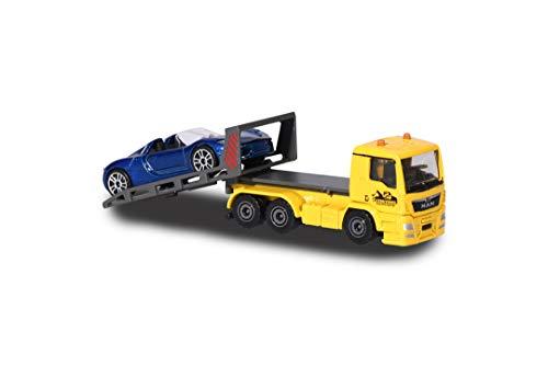Majorette 212057520Q01 - City Set, MAN TGA Tow Truck, Miniatur LKW inkl. Porsche, Die-Cast