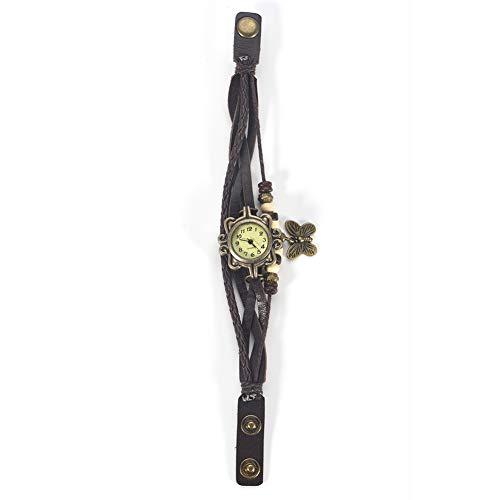Reloj de pulsera, reloj de cuarzo, brazalete con correa de poliuretano trenzado, reloj analógico de...
