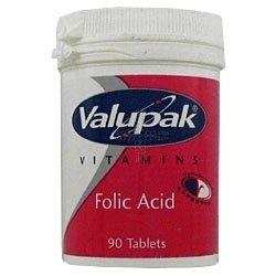THREE PACKS of Valupak Vitamins Folic Acid