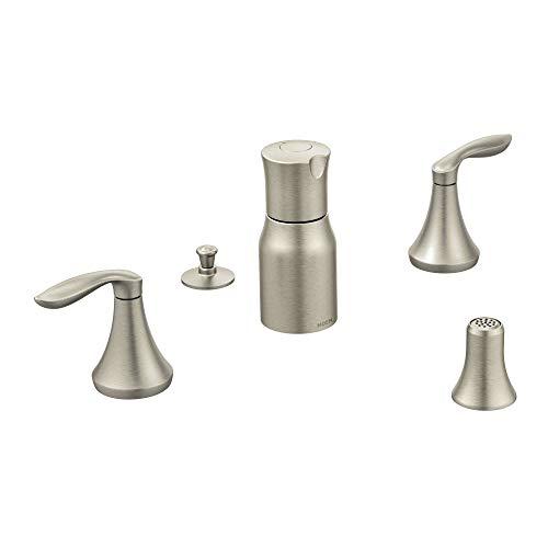 Moen T5220BN Eva Two-Handle Bidet Faucet, Valve Required, Brushed Nickel