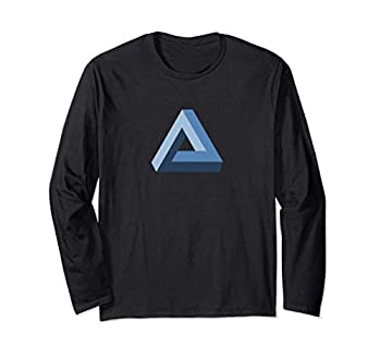 Penrose Tribar optical illusion impossible triangle maths Long Sleeve T-Shirt
