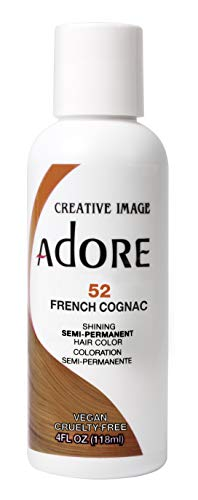 Adore Semi-Permanent Haircolor #052 French Cognac 4 Ounce (118ml) (2 Pack)