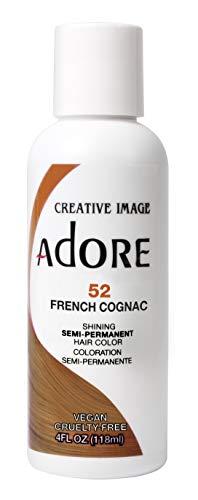 Adore Semi-Permanent Haarfarbe # 052 Französisch Cognac 4 Ounce (118ml) (2-Pack)