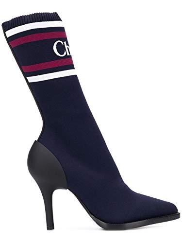 Luxury Fashion | Chloé Dames CHC19S1093343C Donkerblauw Synthetische Vezels Enkellaarzen | Seizoen Outlet
