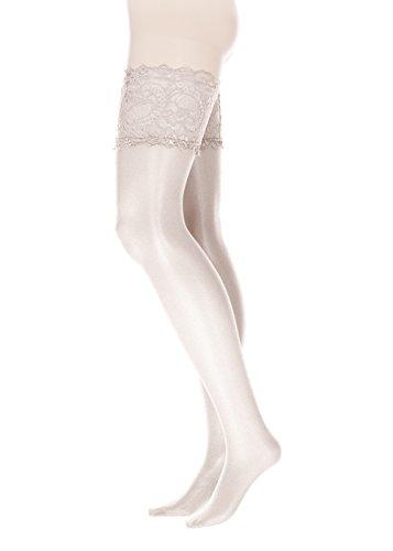 GLAMORY Damen Halterlose Strümpfe Comfort 20 DEN, Weiß ,(Weiß),(Herstellergröße: M-(40-42))