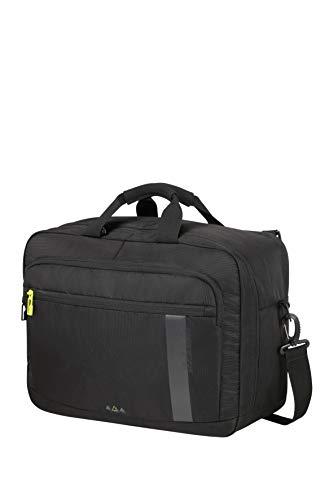 American Tourister Work-E 3-Way boarding bag 15.6 pollici, 40.5 cm, 27 L, Nero (Black)