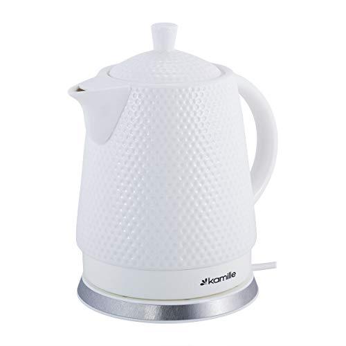 1,5L Keramik Wasserkocher Elektrisch Teekanne Wasserkessel Kettle Tea Schnellkochkessel Teekocher Servierkanne