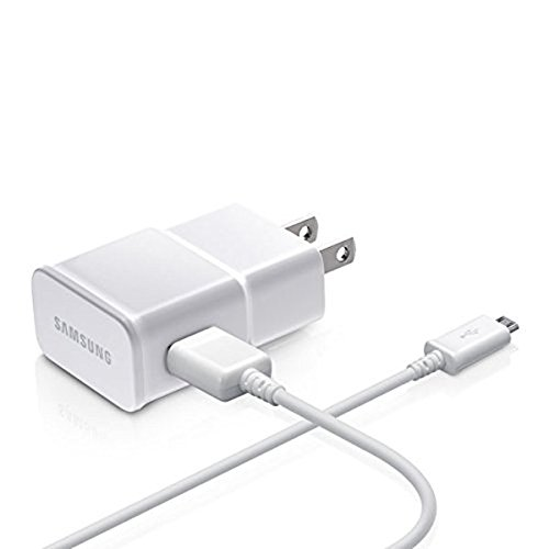 Samsung OEM Adapter with USB Sync Charging Cable - Non-Retail Packaging - White