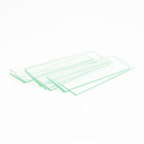 AmScope BS-72P-100S-22 72 Pieces of Pre-Cleaned Blank Microscope Slides and 100 Pieces of 22x22mm Square Coverslips…