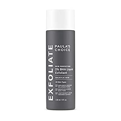 Paula's Choice Skin Perfecting 2% BHA Liquid Exfoliant | Face Exfoliator Fights Breakouts & Blackheads with Salicylic Acid | Fast Absorbing and Leave on Peeling | Combination, Oily & Acne Prone Skin | 118ml