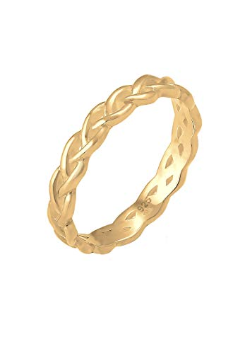 Elli Ring Damen Knoten Unendlich Twisted Trend in 925 Sterling Silber