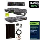 Skymaster DTR5000 DVB-T2 Freenet H.265 Irdeto HDTV Receiver inkl. Maximum DA-2100 DVB-T2 Innenantenne aktiv LTE Filter