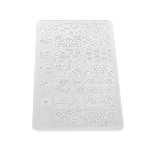 LJSLYJ Plaques D'Emboutissage en Plastique Plaques pour Timbres de Vernis à Ongles Nail Art Picture Modèle Emboutissage Outils de Manucure