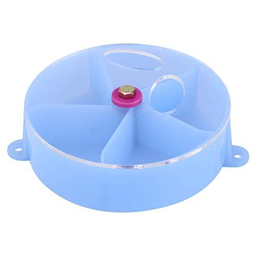 Pssopp Vogel Futternapf Papageienfutter Rad Fütterung Aufbewahrungsbox Fütterungsstation Futterspielzeug für Nymphensittiche Conure Wellensittich Papagei Ara Kleintier Chinchilla(Blau)