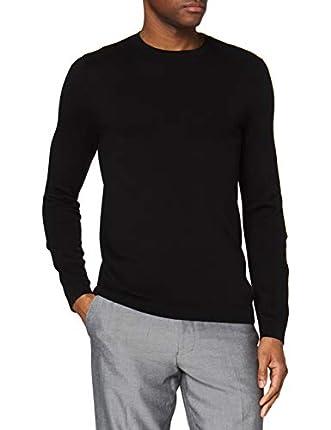 Marca Amazon - find. suéter Hombre, Negro (Schwarz), L, Label: L