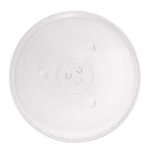 12 3/8 inch Microwave Glass Plate, 31.5cm Microwave Glass Turntable Plate Replacement Compatible with Emerson & Sanyo Microwave
