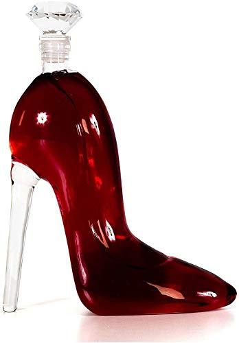 GUYUE Whisky Decanter Top-Plomo Copa, Estilete Jarra con un envase hermético Diamante tapón de la Botella de Vino o Licor