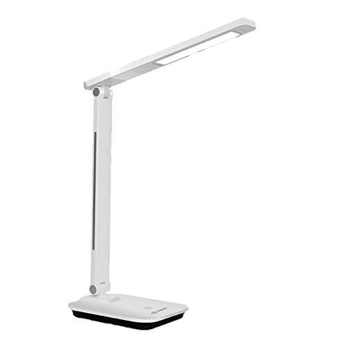 Mingl Pliage Tactile LED, Lecture et écriture pour Enfants étudiants Apprentissage de la Lecture des Yeux, Lampe de Chevet Plug-in pour Chambre à Coucher, Blanc / 6W A++